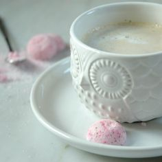 Pink, sparkle sugar is a morning coffee must-have. Love the pink sugar and the owl mug...