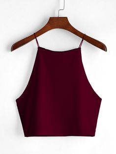 SheIn offers Wine Red Cami Top & more to fit your… Shop Wine Red Cami Top online. SheIn offers Wine Red Cami Top & more to fit your fashionable needs. Girls Fashion Clothes, Teen Fashion Outfits, Outfits For Teens, Teenager Outfits, Red Cami Tops, Cute Crop Tops, Crop Top Outfits, Cute Casual Outfits, Mode Top