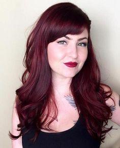 long burgundy hairstyle
