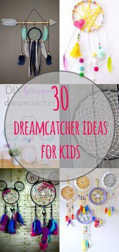 30 Dreamcatcher Ideas for Kids #crafts #craftsforkids #dreamcatcher #craftideas