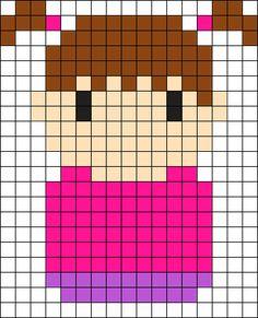 Boo Monsters Inc Perler Bead Pattern / Bead Sprite