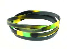 Neptune Giftware Set of 4 Boys Camouflage Rubber Bracelets - Not Suitable For Children Under 36 Months Old - (Max Wrist Size Approx. 16cm) Neptune Giftware. $6.99