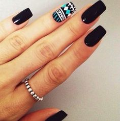 I love this nail design its plain and simple