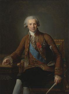The Athenaeum -Portrait of Comte de Vaudreuil Élisabeth Vigée-Lebrun - 1784 Virginia Museum of Fine Arts (United States) Painting - oil on canvas