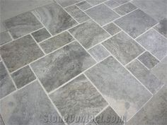 Silver Travertine Tumbled Pattern, Turkey Grey Travertine