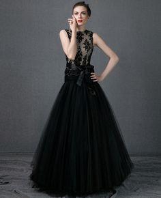 vestido-de-noche-largo-con-tul.jpg (420×517)