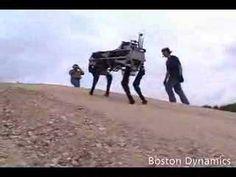 Boston Dynamics BIGDOG Robot -It's becoming hard to tell if you're watching scifi or actual robot videos. The BigDog