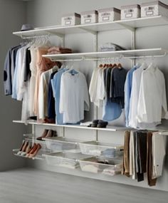 IKEA ALGOT Wall upright/rod/shoe organiser White 256 x 41 x 199 cm The parts in the ALGOT series can be combined in many different ways and so can easily be adapted to needs and space. Shoe Organizer Ikea, Shoe Organiser, Closet Organisation, Closet Storage, Bathroom Storage, Ikea Storage, Wall Storage, Bathroom Organization, Storage Cabinets
