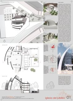 Millenium Church in Rome by Richard Meier. Temple Architecture, Chinese Architecture, Modern Architecture House, Architecture Portfolio, Futuristic Architecture, Architecture Plan, Modern Houses, Richard Meier, Sketches Arquitectura