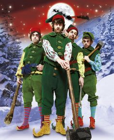 Who could forget this classic? Arctic Monkeys dressed up as Christmas elves for the cover of the 2007 issue. We still can't quite believe they agreed to do it. By Dean Chalkley Arctic Monkeys, Christmas Shows, Christmas Elf, Orlando Weeks, Wayne Coyne, Night Of The Proms, The Pogues, Monkey 3, The Mighty Boosh