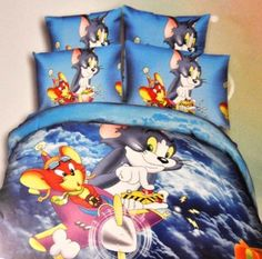 Tom And Jerry bed sheet