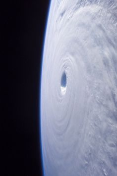 The eye of a hurricane from the space.