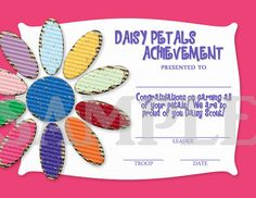 Girl Scouts Daisy Petals Earned by CapturedbyJessPrints on Etsy, $6.50