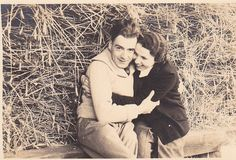 Couple in the Haystack Vintage Photograph LL by gwensewvintage, $1.25