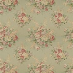 Angela Floral - Sage - Florals - Fabric - Products - Ralph Lauren Home - RalphLaurenHome.com