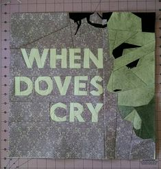 """Fandom In Stitches: Prince: 1958 - 2016 Prince/When Doves Cry by Kristi Lehane  Tested by Nina W Riggle 15"""" Paper Pieced #PrinceTribute Free from fandominstitches.com Free for personal and non-profit use only"""