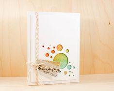 Luminary Circles Birthday Card - Playing With Distress Inks