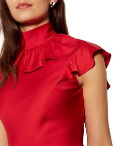 Kurti Neck Designs, Blouse Designs, Red Colour Dress, Plus Size Clothing Online, Dress Outfits, Fashion Outfits, Latest African Fashion Dresses, Red Midi Dress, Pakistani Dress Design