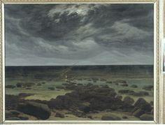 Réunion des musées nationaux Friedrich Rivage au clair de lune 1830