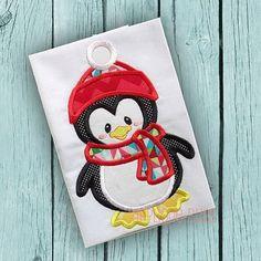 Penguin Applique Design  Christmas  Holiday  by AppliqueBliss