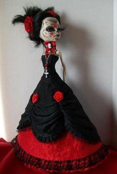 Monster High Custom OOAK Day of The Dead Dia de Los Muertos Doll 'Sophia' | eBay