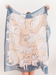 picasso cats scarf by leahgoren on etsy.