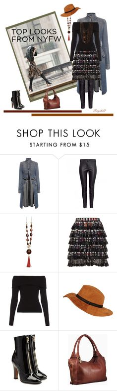 """60 second STYLE: NYFW"" by ragnh-mjos ❤ liked on Polyvore featuring 3.1 Phillip Lim, Alexander McQueen, Marco de Vincenzo, A.L.C., Black Rivet, Valentino, Viktoria Hayman, women's clothing, women and female"