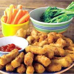 Chicken Cheese Goujons with Tomatoes