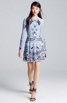 Needle & Thread Embellished Georgette Fit & Flare Dress | Nordstrom