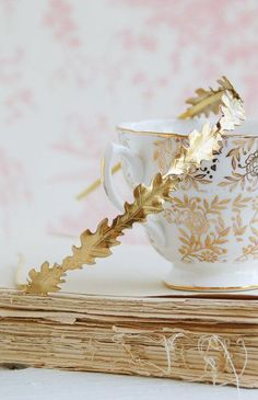 Gold Oak Leaf Headband Autumn Wedding Romantic