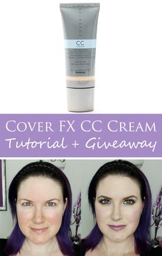 Cover FX CC Cream Tutorial and Giveaway
