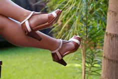 High heel leather handmade shoes / women shoes in brown leather / Model Audrey by LaMoraZapatos on Etsy https://www.etsy.com/listing/190762834/high-heel-leather-handmade-shoes-women