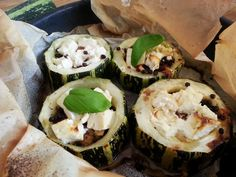 Marrows, baked with feta cheese, garlic and other goodies...