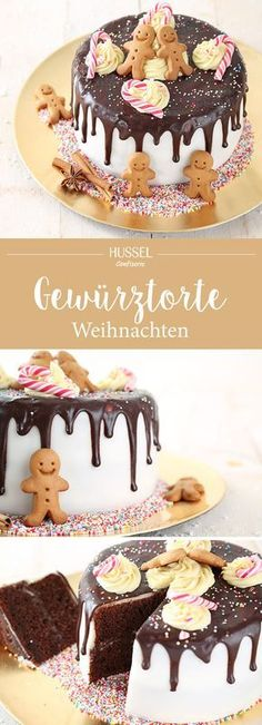 Christmas spice cake - Hussel Confiserie- Weihnachtliche Gewürztorte – Hussel Confiserie In winter it is finally time again! It& time to bake cookies ! We have put together the most beautiful recipes and cookies for you to simply bake. Sweet Recipes, Cake Recipes, Snack Recipes, Dessert Recipes, Spice Cake, Pumpkin Spice Cupcakes, Dessert Design, Drip Cakes, Food Cakes