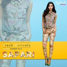 Splash theme of the week is Safari! The earthy and cool collection will definitely give an instant twist to your wardrobe! Head to your nearest Splash outlet and pick the latest trends today. #Splash #Fashion #Safari #SpringSummer #SplashIndia