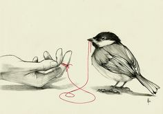 Red String of Fate. The two people connected by the red thread are destined lovers, regardless of time, place, or circumstances. This magical cord may stretch or tangle, but never break. (Tattoo idea?)