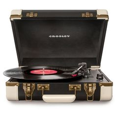 Crosley Executive Draagbare Platenspeler - Black/White