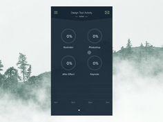 Designer Time Tracking App  https://dribbble.com/shots/2074040-Designer-Time-Tracking-App