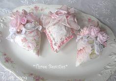 Three Strawberry Sachets