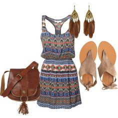 In LOVE with this aztec print dress...perfect for summer!!!