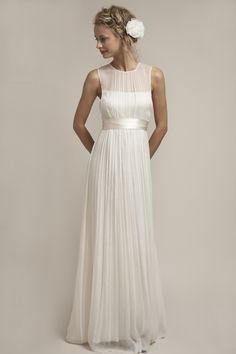 HB6979 l This understated, elegant dress is one of the all time favorites of Saja brides. HB6979 is our interpretation of a traditional strapless dress that allows us to resonate with a modern bride by creating this non-strapless illusion neckline. It has a sheer keyhole neckline on the back. #sajawedding