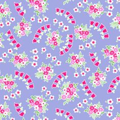 Lakehouse Drygoods - Pam Kitty Garden Posie Swirls Blue
