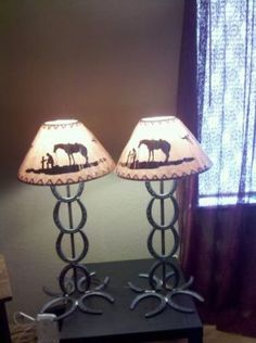 Horseshoe lamps!