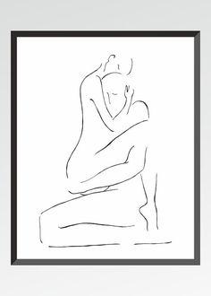 Stampa d'arte. Illustrazione di erotico per camera da di siret