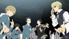 Kida Masaomi, Anri Sonohara, Mikado Ryuugamine, Izaya Orihara, Celty Sturluson, Shizuo Heiwajima, Yoshimune Miyoshi - Durarara!! Reley