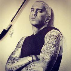 StannArt - Eminem biro portrait