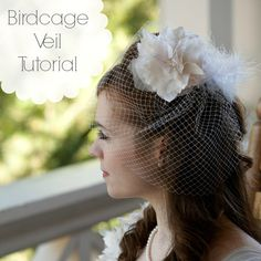 Adventures in Dressmaking: My birdcage veil!! A tutorial Lots of other inspiration here, too