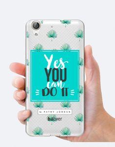 "Funda móvil b-Kover by Patry Jordan ""Yes you can do it"" Patry Jordan, Jordan B, Estilo Tropical, Phone Cases, Iphone, Palm Trees, Mobile Cases, Leaves, Phone Case"