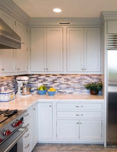 Transitional Kitchen Design with Shaker Style Cabinets #08 (Crown-Point.com, Kitchen-Design-Ideas.org)