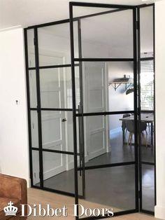 Dibbet Doors: Zwart stalen binnendeuren geplaatst in woning - Barneveld